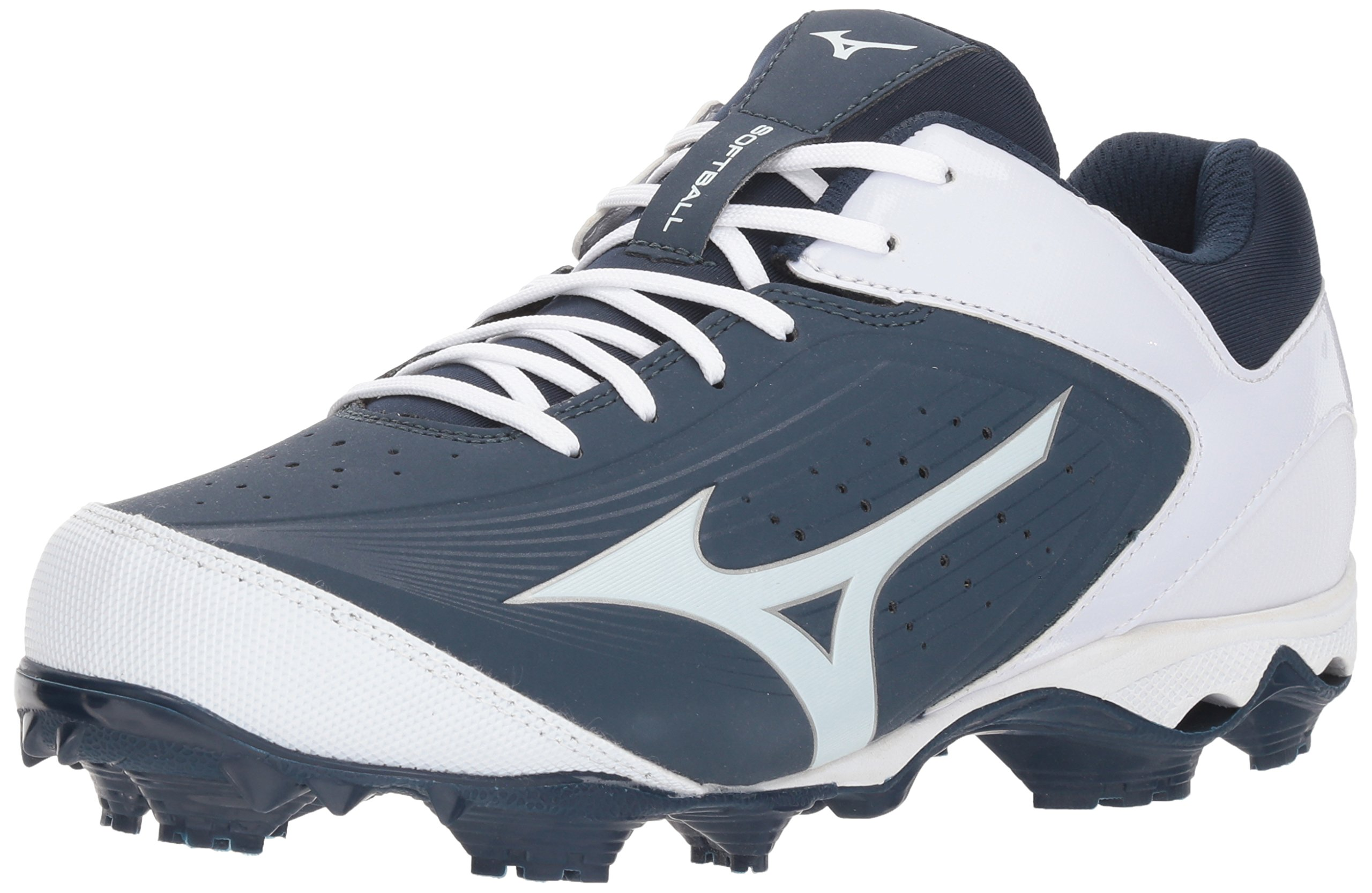 Mizuno Women's 9-Spike Advanced Finch Elite 3 Fastpitch Cleat Softball Shoe, Navy/White, 7 B US by Mizuno