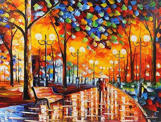 Leonid Afremov Rain Rustle