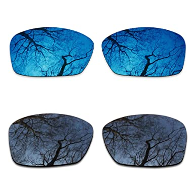 e88cdd13eea Image Unavailable. Image not available for. Color  2 Pair Polarized Lens  Replacement for Oakley Hijinx Black Midnight Blue