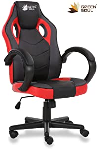 Green Soul Gaming/Desk Chair (GS500-Black & Red) The Conqueror