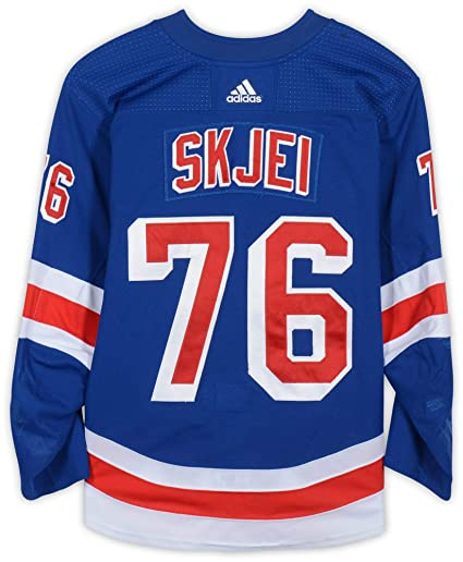 new concept bacbe e74ab Brady Skjei New York Rangers Game-Used #76 Blue Set 3 Jersey ...