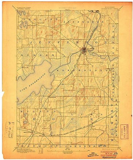 amazon com yellowmaps koshkonong wi topo map, 1 62500 scale, 15 x Space Fort Diagram yellowmaps koshkonong wi topo map, 1 62500 scale, 15 x 15 minute,