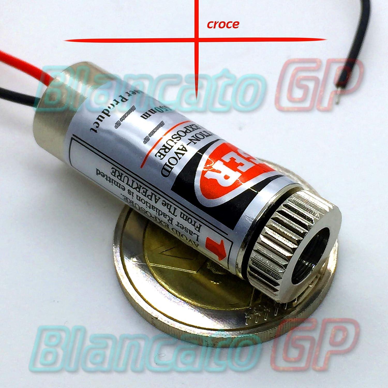 Module laser 650nm Croix-Rouge Diode Pointeur Diode Braque Puntero 3V 5V DC BlancatoGP
