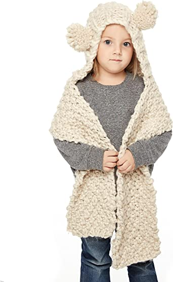 Long Winter Scarf With Hooded Cute Pocket Shawl For Kids Baby Boy And Girls Wear