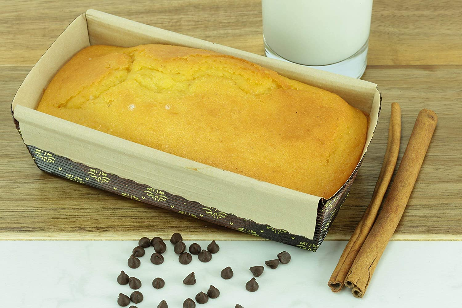 Nonstick Premium Paper Baking Loaf Pan Banana Bread Set of 12 for Chocolate Cake Disposable By Ecobake