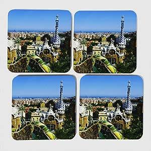 Compra Arty pie posavasos (Juego de 4) Parc Guell Gaudi Barcelona España en Amazon.es