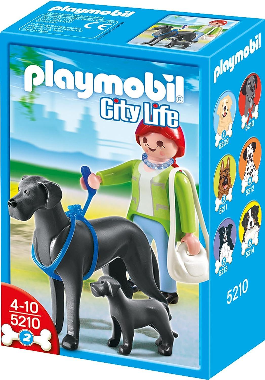 Playmobil 5210 Dogge grau Hund Adel unbespielt unplayed top