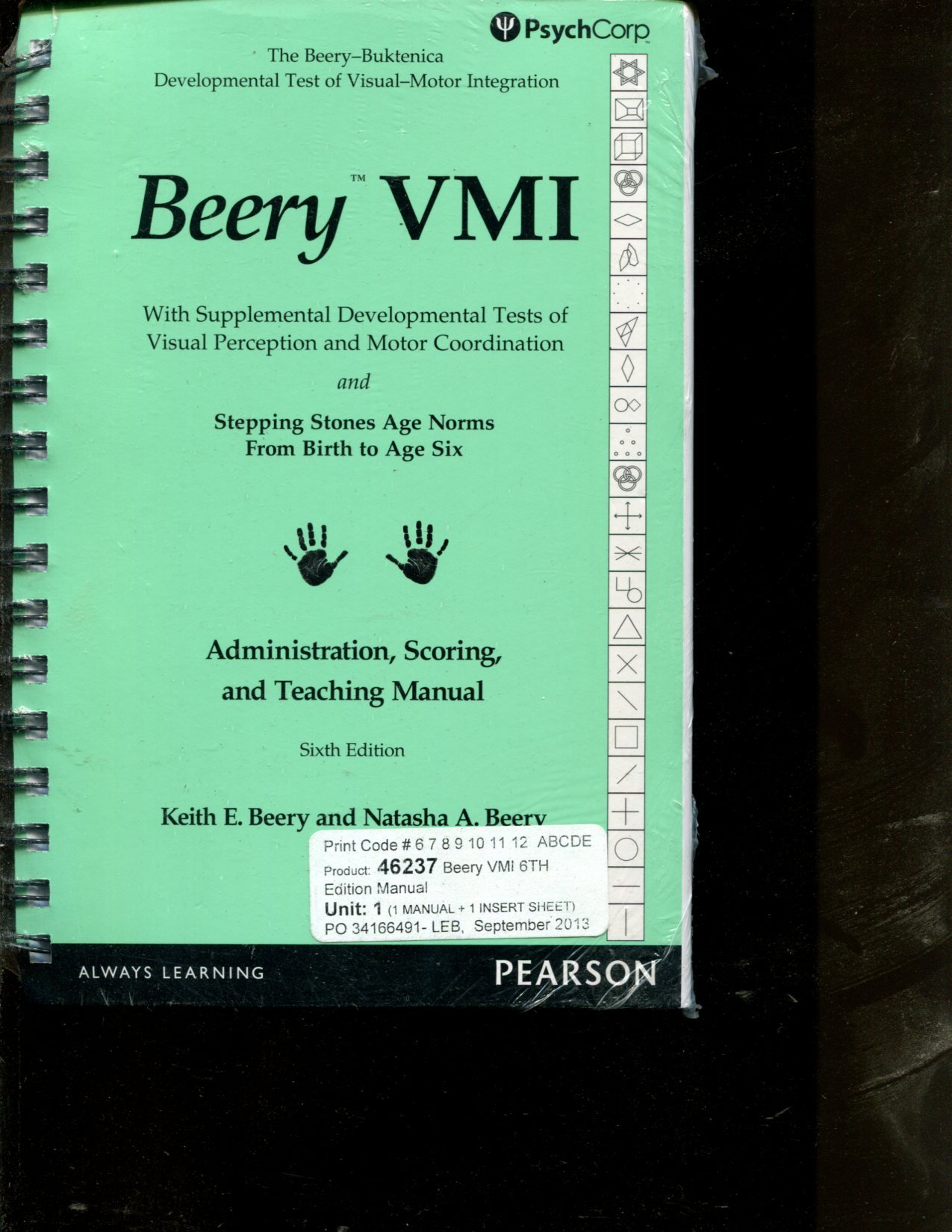 Beery vmi administration scoring and teaching manual 6e psychcorp beery vmi administration scoring and teaching manual 6e psychcorp keith beery 9780749160258 amazon books fandeluxe Image collections