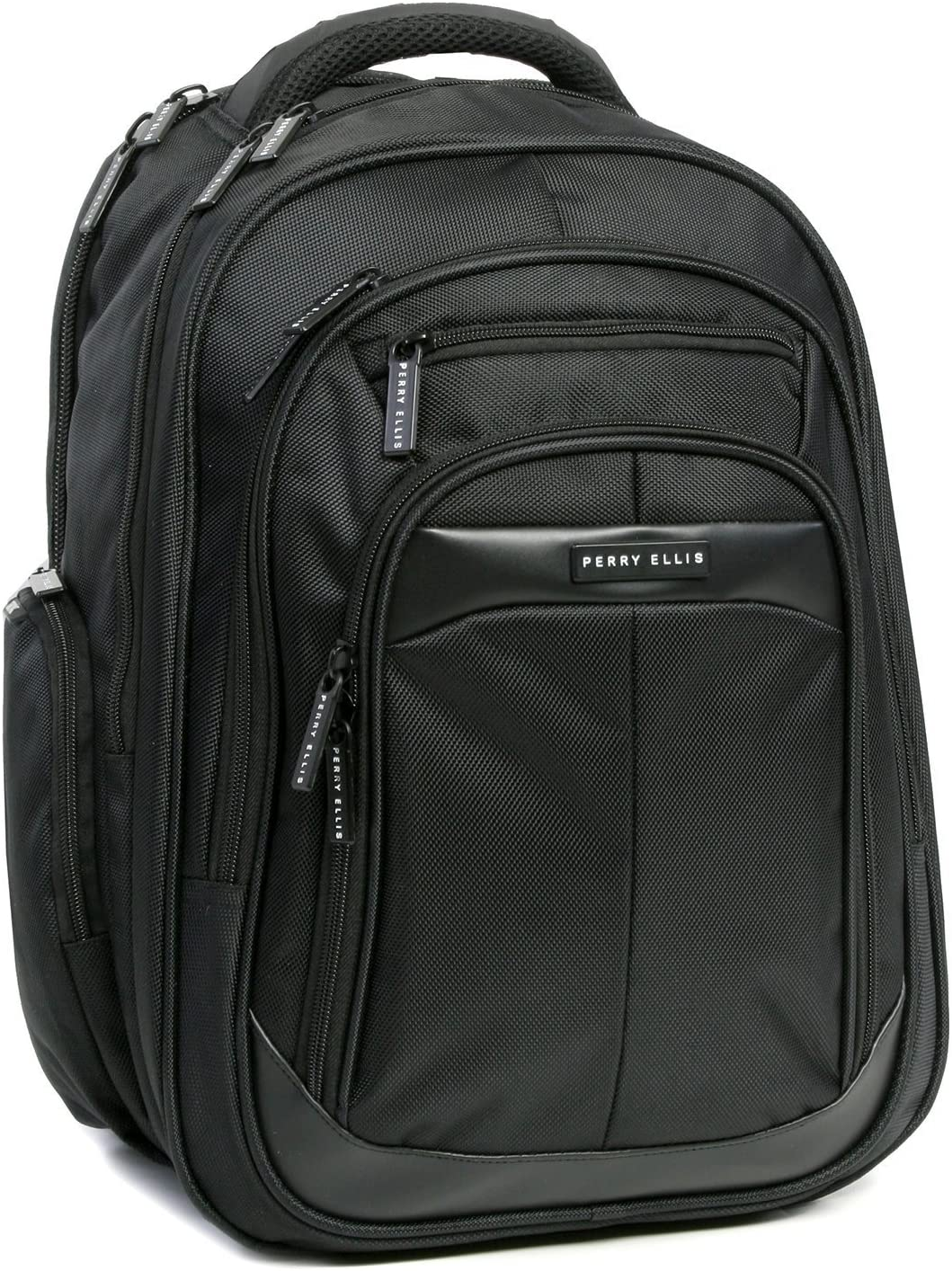 Perry Ellis M140 Business Laptop Backpack, Black, One Size