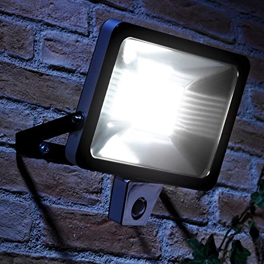 Auraglow super bright 50w led low energy motion activated pir sensor auraglow super bright 50w led low energy motion activated pir sensor security floodlight outdoor wall light aloadofball Choice Image