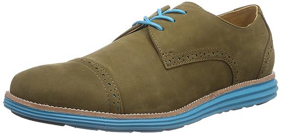 Chung Shi SENSOMO II - Zapato Oxford de Cuero Mujer, Color Verde, Talla 38