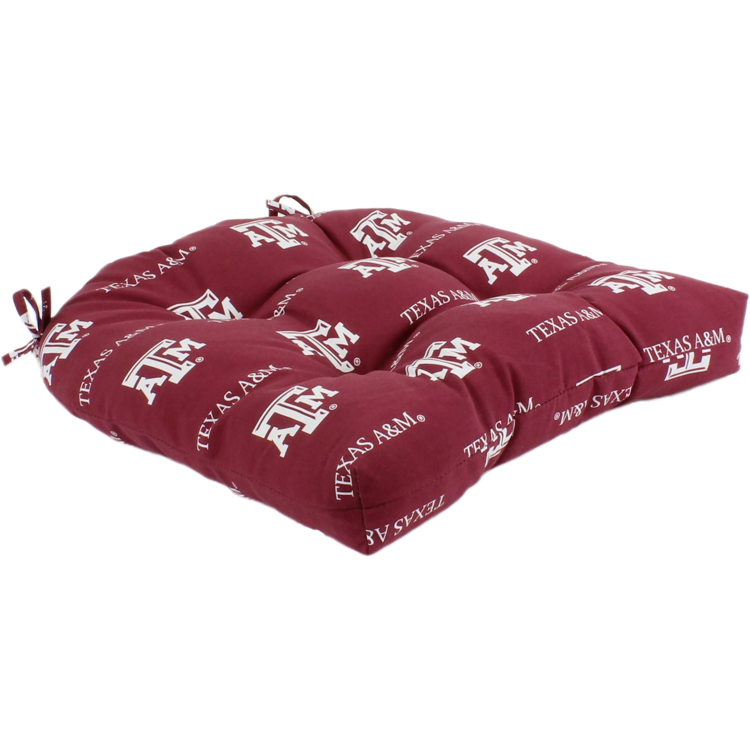 College Covers Texas a&M Aggies Indoor/Outdoor Seat Patio D Cushion, 20'' x 20'', Red