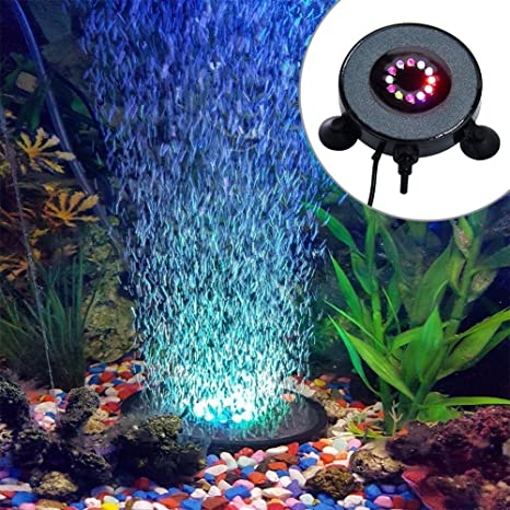 Starter Luz Redonda del Acuario Sumergible | 12 Iluminación Subacuática Ilevada del Tanque de Pescados del
