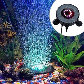 Luz del acuario Cambio de color automático Decoración de LED Luces sumergibles Dc Tanque de peces