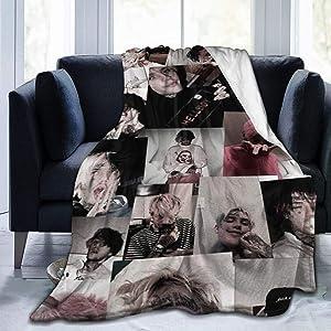 PINGMING Emo Hip Hop Lil-Peep Blanket Soft Microfiber Fleece Throw Blankets Home Decor Bedroom Living Room Sofa Fleece Blankets