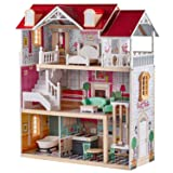 TOP BRIGHT Wooden Dollhouse with Elevator Dream