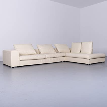 73519f9423f557 Amazon.com  Who s Perfect Designer Leather Sofa Beige Corner Sofa ...