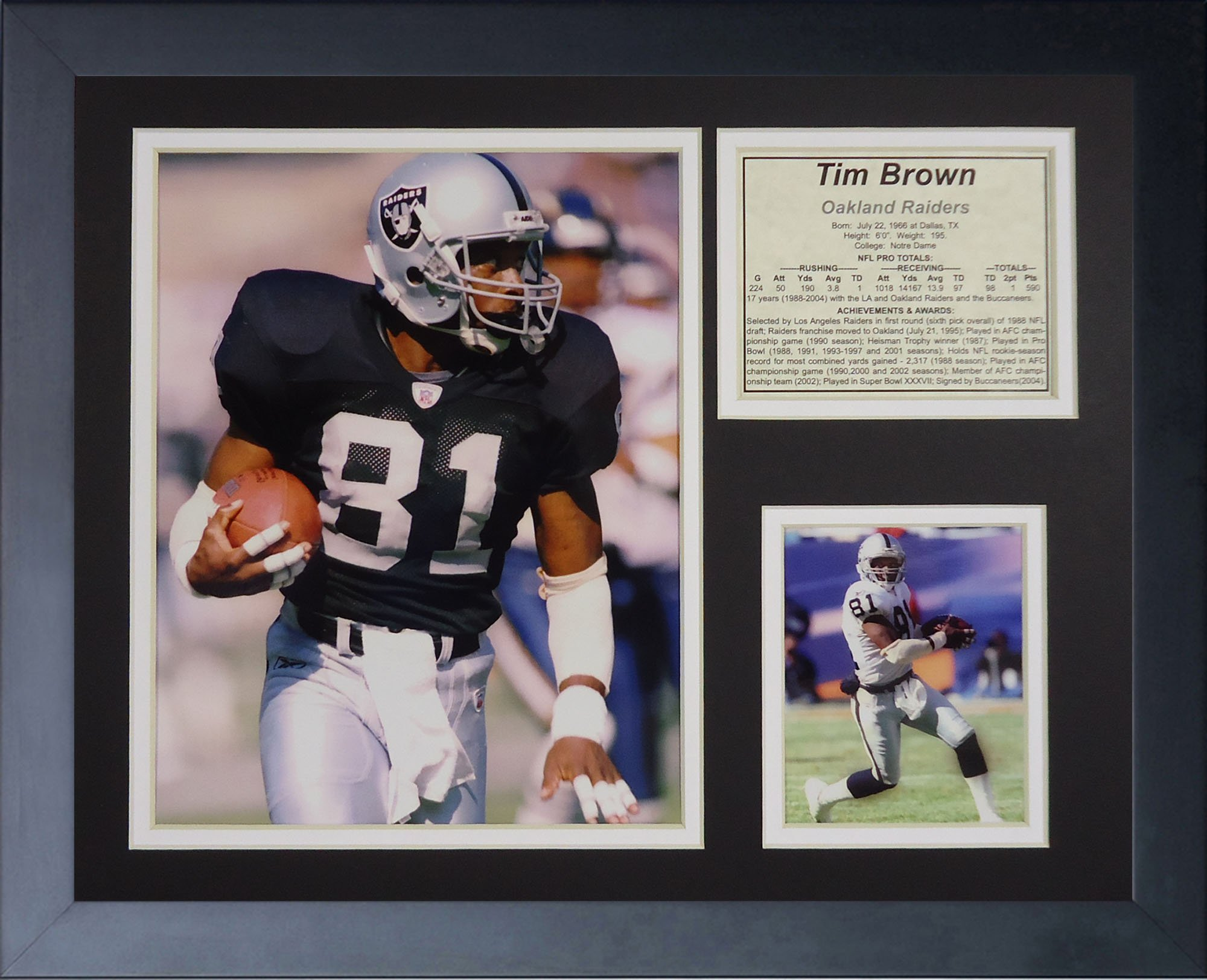 Legends Never Die ''Tim Brown Raiders Framed Photo Collage, 11 x 14-Inch by Legends Never Die