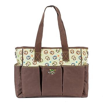 e81ec7afa4b4 SoHo diaper bag Curious Monkey 6 pcs nappy tote bag for baby mom dad  stylish insulated