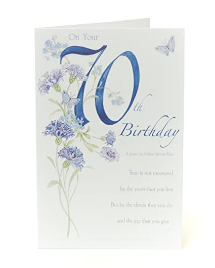 Amazon Lovely Verse 70th Birthday Card