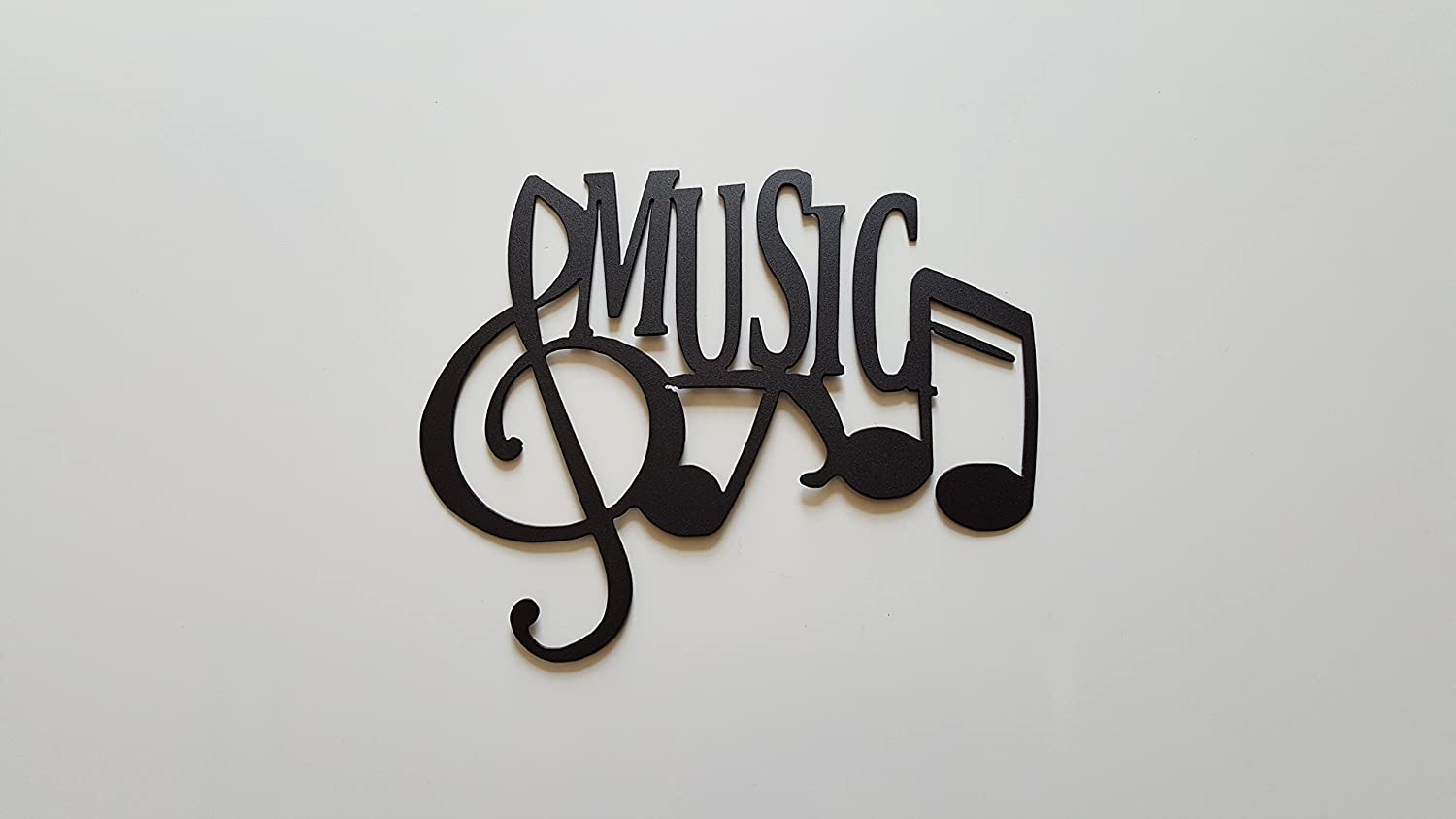 Exceptionnel Amazon.com: Music Word And Music Notes Metal Wall Art Decor: Home U0026 Kitchen