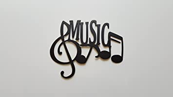 Music Word And Music Notes Metal Wall Art Decor Part 20