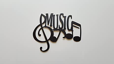 Amazon.com: Music Word And Music Notes Metal Wall Art Decor: Home ...