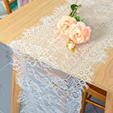 Pardecor Lace Table Runner 14x120 10 Pack Table Runner for Wedding Table Overlay Floral Lace Table Runner White Lace Classy f
