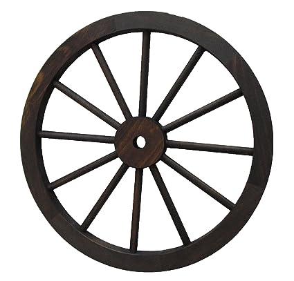 Rueda de carro decoración madera de 80 cm de diámetro