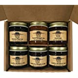Kitchen Kettle Village Jam Sampler Gift Set (Amish Made) 6-pack Variety Sampler of Jams and Jellies, 1.5 Ounce Jars [1 of each flavor]