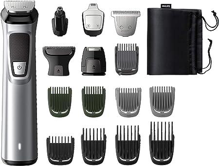 Tiene 16 accesorios para cara, cabello y cuerpo,Cuenta con tecnología DualCut,El recortador metálico