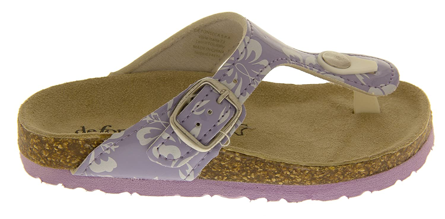 050ec09c5 De Fonseca Girls Lilac Leather Lined Toe Post Summer Sandals UK 11 Kids   Amazon.co.uk  Shoes   Bags