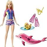Barbie FBD63 Dolphin Magic Snorkel Fun Friends Doll