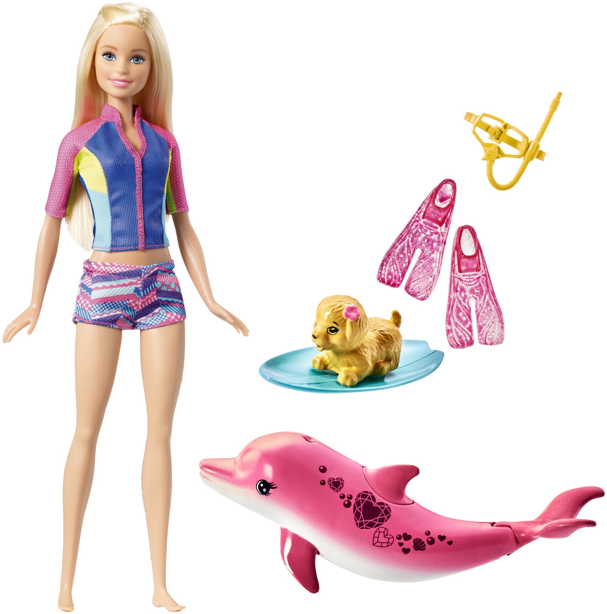 Barbie Dolphin Magic Snorkel Fun Friends Playset