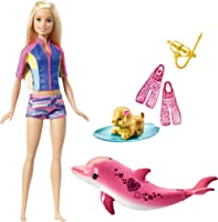 Barbie Dolphin Magic Snorkel Fun Friends Set