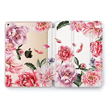 a4cd54ff20bca Wonder Wild New iPad Case 9.7 inch Mini 1 2 3 4 Air 2 10.5 12.9 Tablet 2018  2017 Watercolor Floral Print Cover Beige Moko Rose Gold Vintage Girls ...
