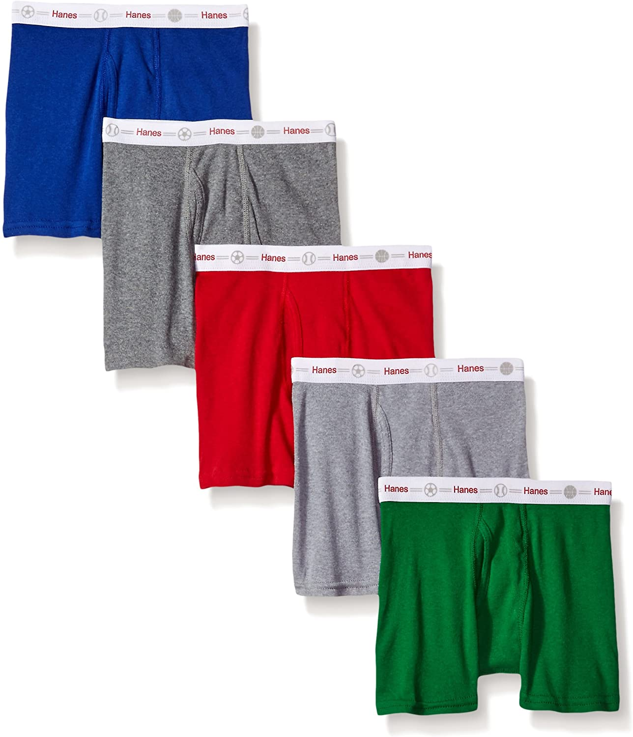 Hanes Boys' Toddler 5-Pack Boxer Brief