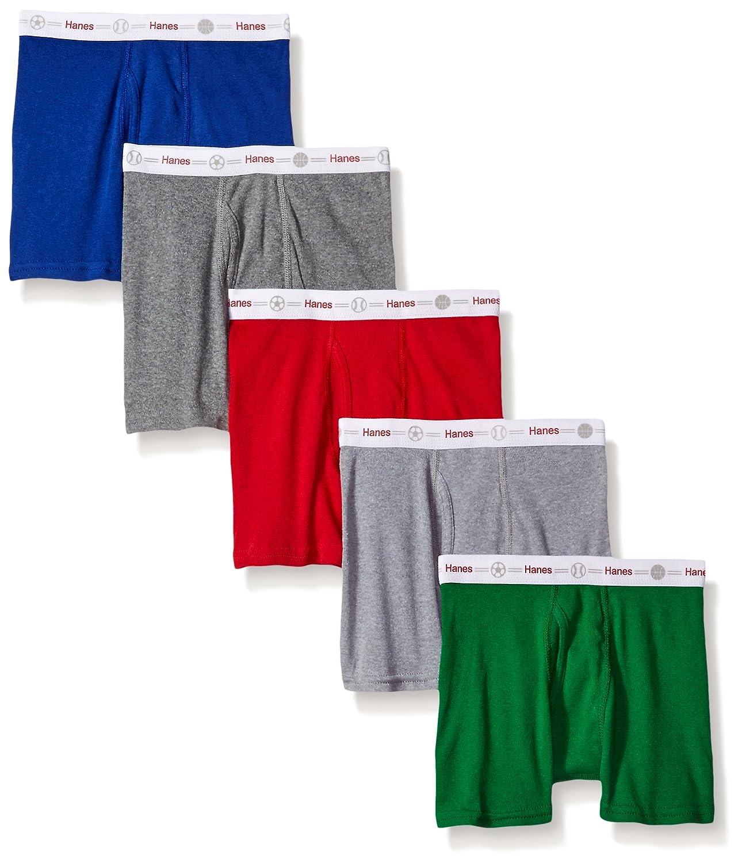 Hanes Boys' Toddler 5-Pack Boxer Brief Hanes Girls 7-16 Underwear TB74P5