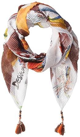 d8952030231a Desigual 18SAWF09 Echarpes et foulards Sacs   Accessoires WHITE TU  Amazon. fr  Vêtements et accessoires