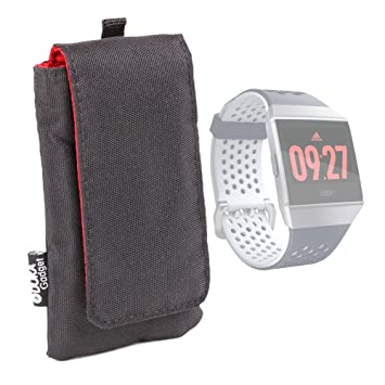 DURAGADGET Funda Acolchada Negra/Roja para Smartwatch Fitbit ...