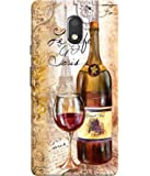 Sketchfab Designer Red Wine Bottle Printed Back Cover Motorola Moto E3 Power
