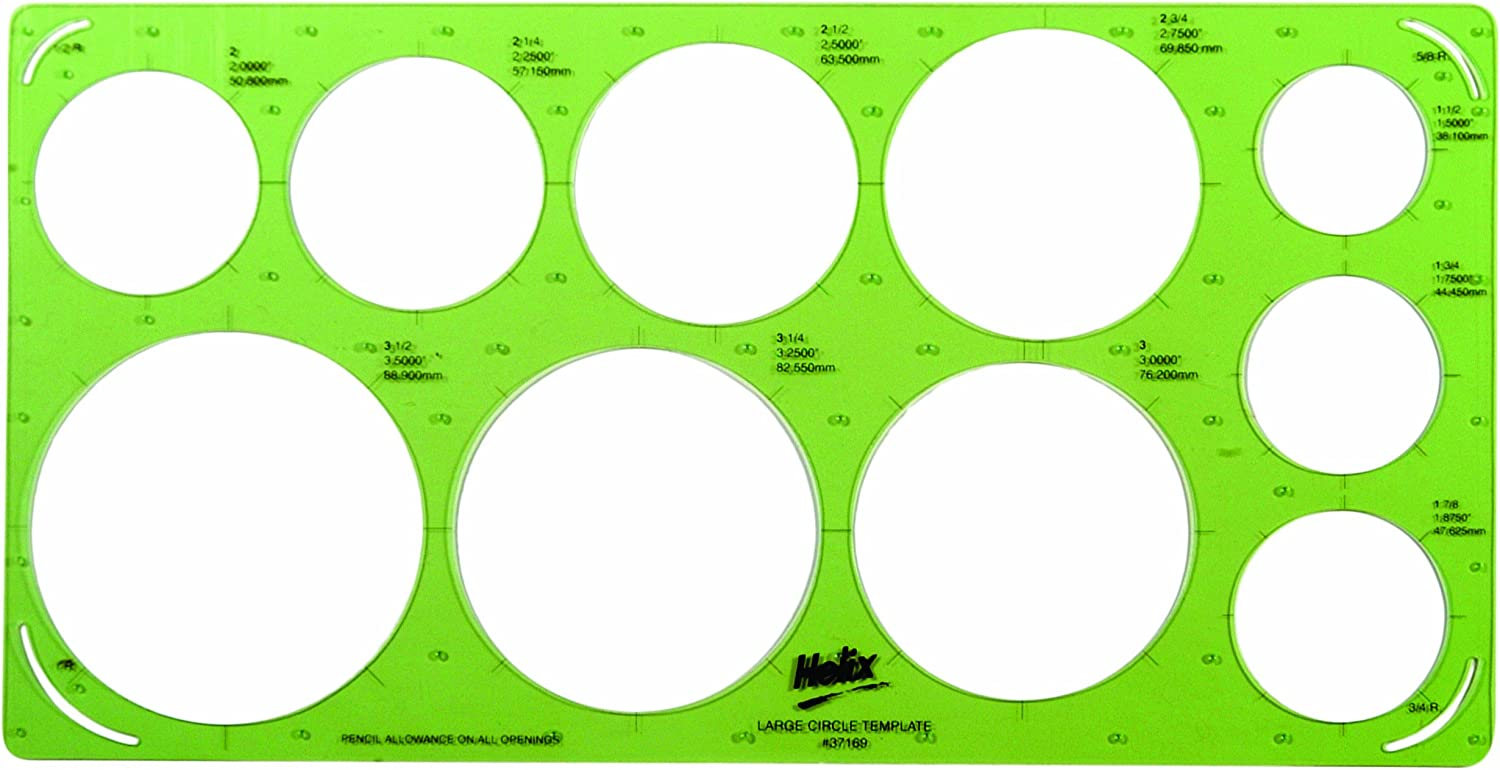 Helix Large Circle Template 37169 Amazon Ca Office Products