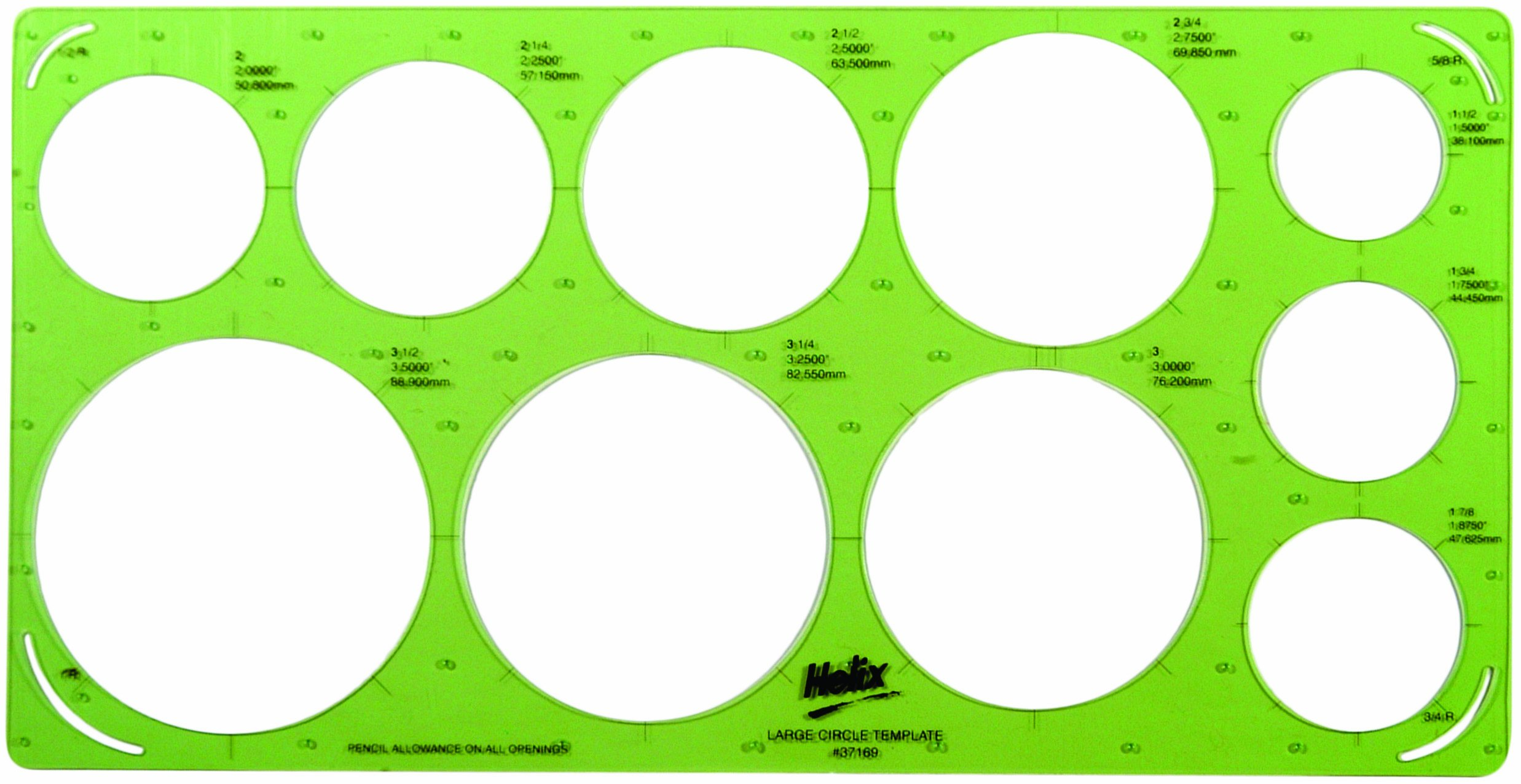 Helix Large Circle Template (37169)