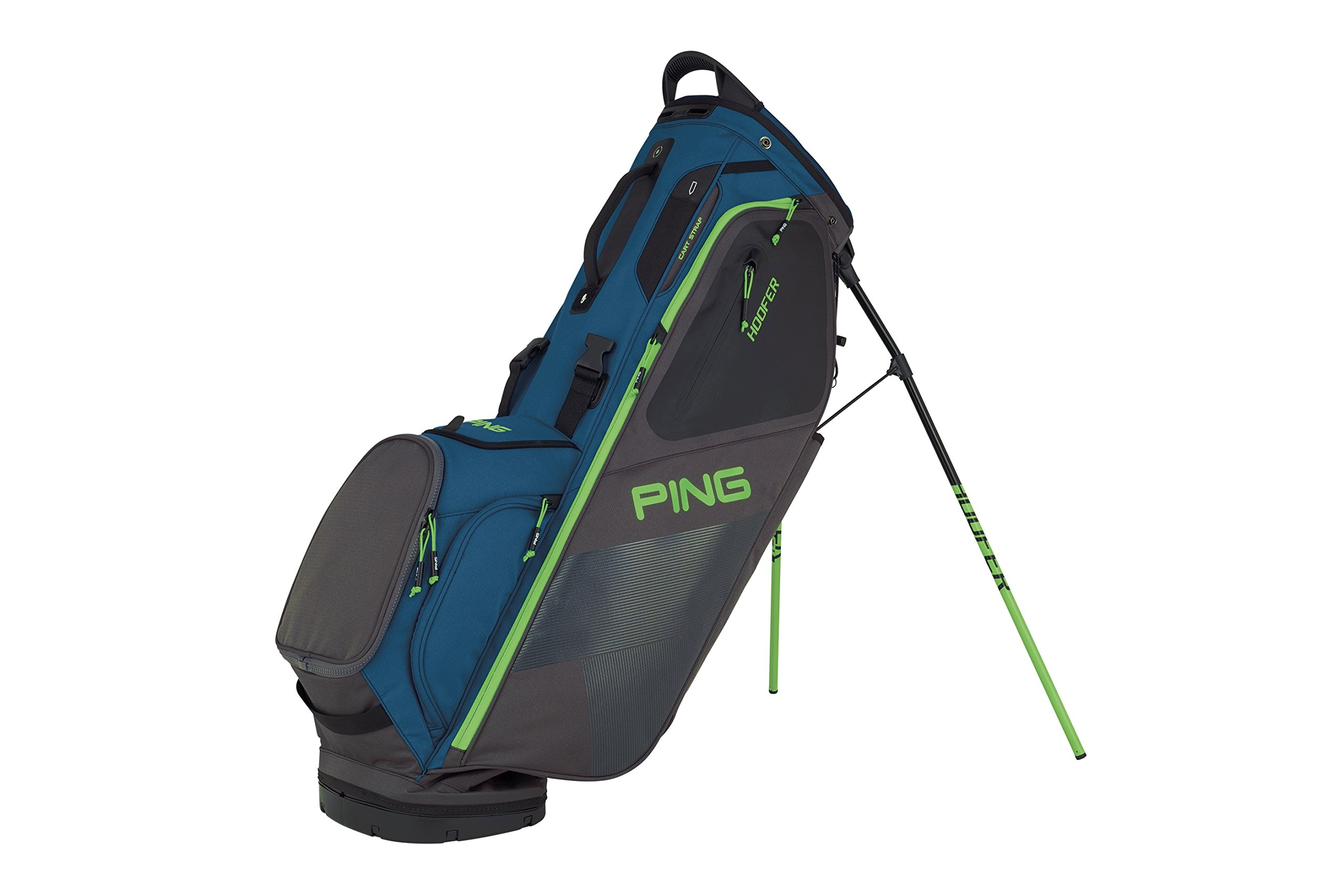 PING 2018 HOOFER 181 STAND GOLF BAG 06 DARK TEAL/GRAPHITE/ELECTRICGREEN