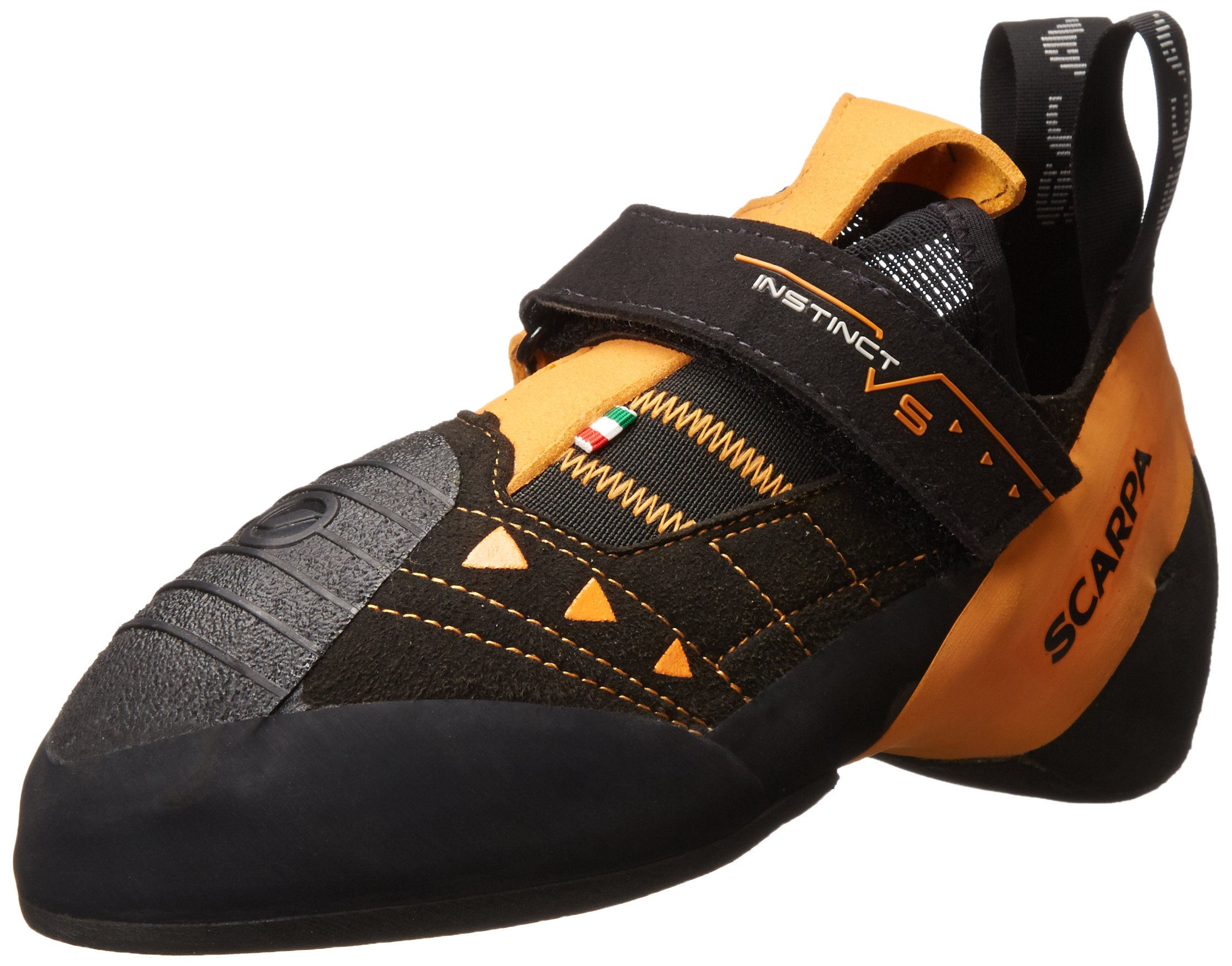 SCARPA Instinct VS Climbing Shoe-U, Black/Orange, 47 EU/13 M US by SCARPA