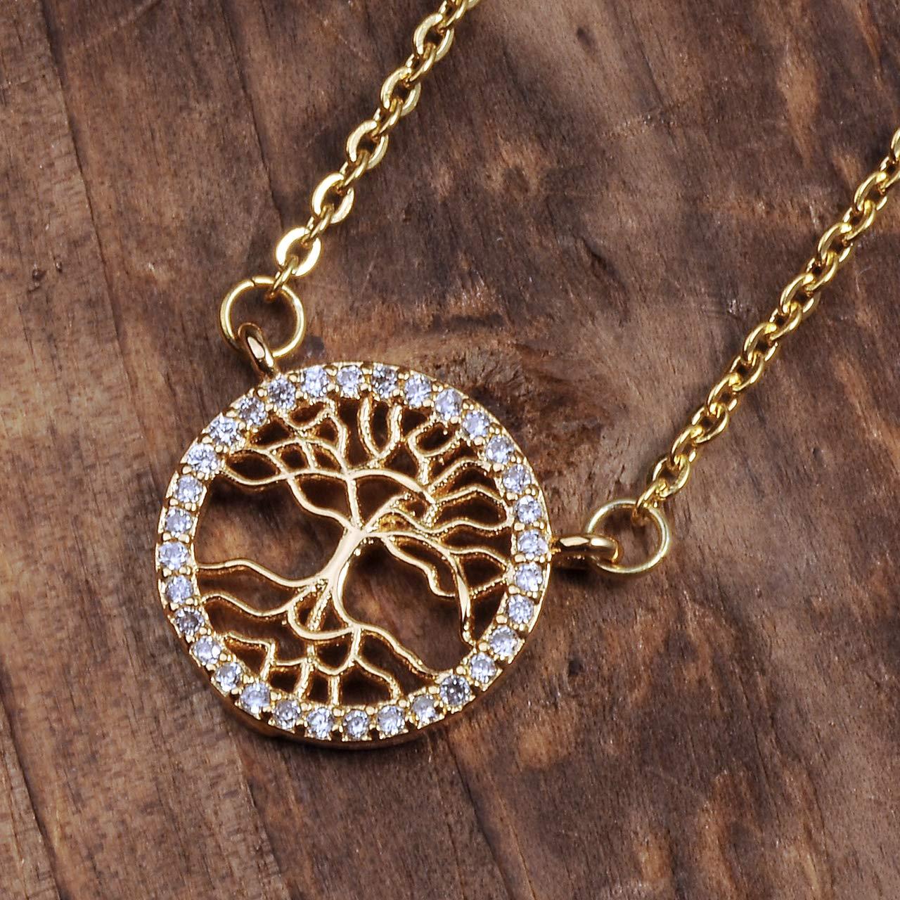 Elegant Jewelry for Women Girls MANIFO Crystal Rhinestone Tree of Life Pendant Necklace