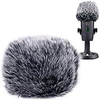 YOUSHARES Microfoon Harige Voorruit Muff - Mic Wind Cover Bont Popfilter als Schuimhoes Compatibel met Blauw Yeti Nano