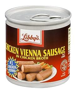 Libby's Chicken Vienna Sausage in Chicken Broth 4.6 Oz (Pack of 6)