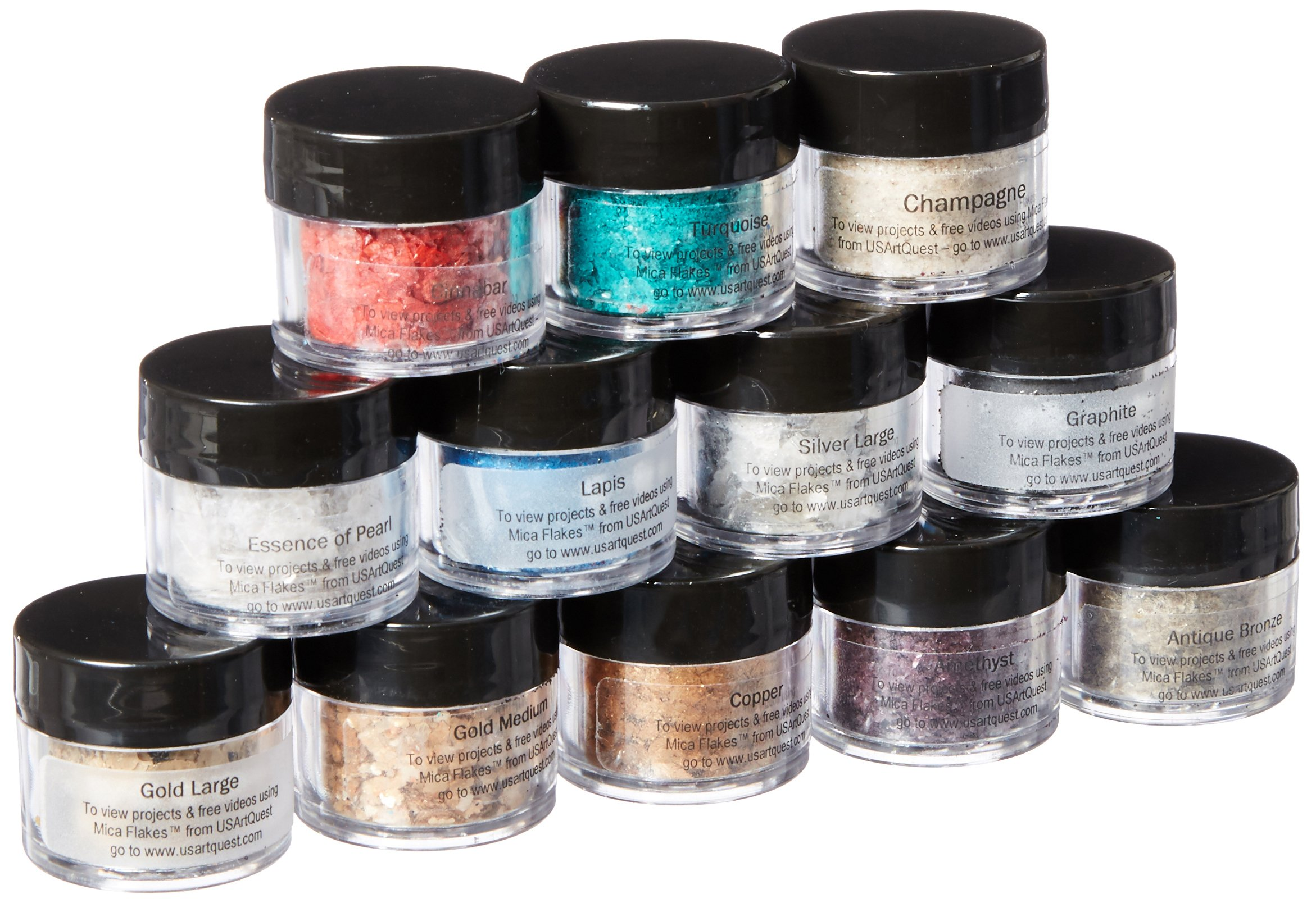 US Artquest Mica Flake Collection, 12-Pack