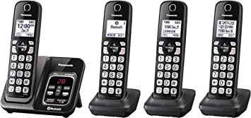 Panasonic KX-TGD564M Link2Cell Cordless Bluetooth Phone w// Voice Assist in Black